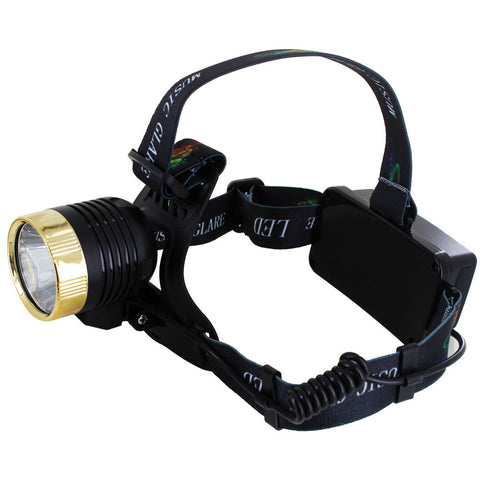 Skque® Rechargeable LED Headlight Flashlight with MP3 Player and FM Radio