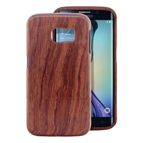 Galaxy S6 Edge Case, Skque® Handmade Natural Wooden Case for Samsung Galaxy S6 Edge