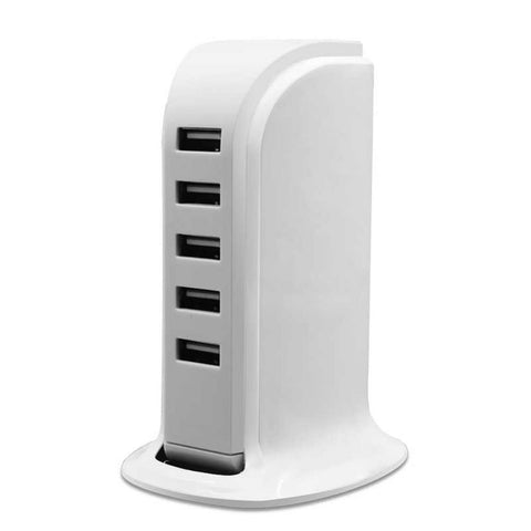 USB Charging Station, Skque® 5 Port USB Charger Charging Station 5.2V 6A
