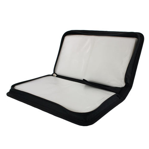 New 80 Capacity Portable CD DVD VCD Wallet Case Storage Bag Music Album, Black