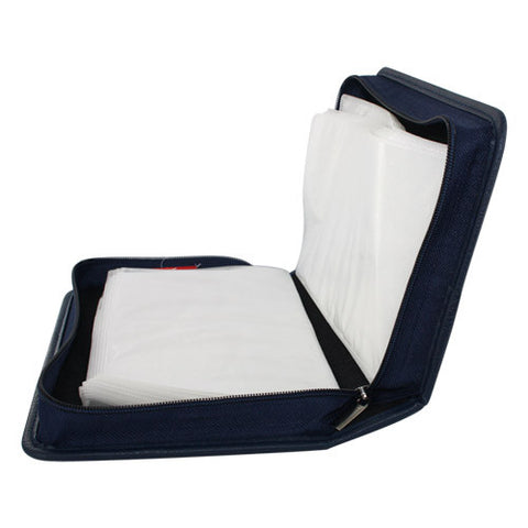 80 Capacity Portable CD DVD VCD Wallet Case Storage Bag Music Album, Blue
