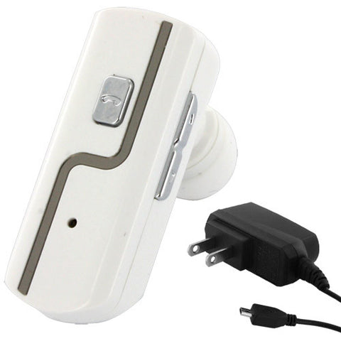 Skque Universal Bluetooth Convertible Stereo Headset WK-100 with US Power Plug-in white