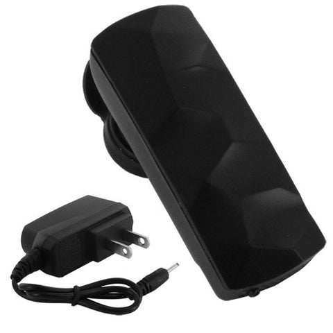 Skque Universal Compact Stylish Wireless Bluetooth Mono Headset M-666 with US Power Plug-in Black