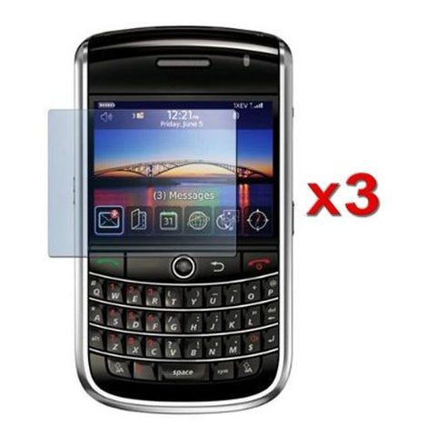 3 Clear Lcd Scratch Screen Protector Armor Shield For Rim Blackberry Curve 8900