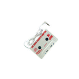 Skque white Cassette Tape Adapter- Transfer sound from mp3 player to car stereo