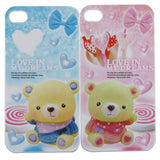 Cute Lovers Couple Valentine Hard Case Cover By Skque For Apple Iphone 4 4S