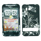 Skque hard plastic pouch case for HTC Thunderbolt Cover Case - Protective sleeve with spring flowers design