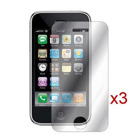 3X Mirror Lcd Crystal Clear Screen Protector Cover For Apple Iphone 4 4G 4S