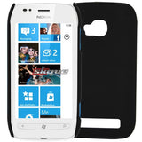 (Black) Rubber Skin Rubberized Case Cover Hard For Nokia Lumia 710