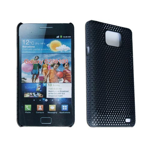 Hard Meshy Case Cover Protector For Samsung Galaxy S2 S Ii I9100 Black
