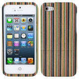 Colored Stripe Wood Wooden Hard Back Case Cover For Apple Iphone 5
