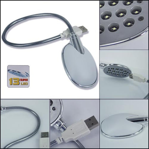 13 Led Flexible Bright Light Lamp Usb Power For Laptop Pc Notebook Netbook Mini