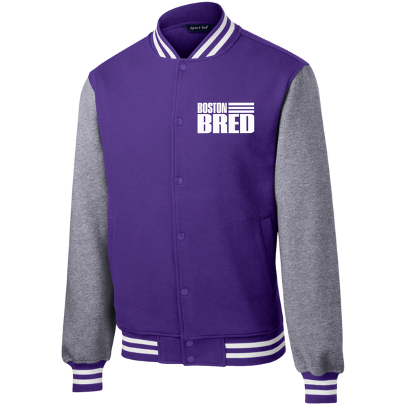 Boston Bred Fleece Letterman Jacket