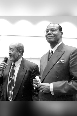 Imam Warithudeen Mohamed and The Honorable Minister Louis Farrakhan Joint Jummah