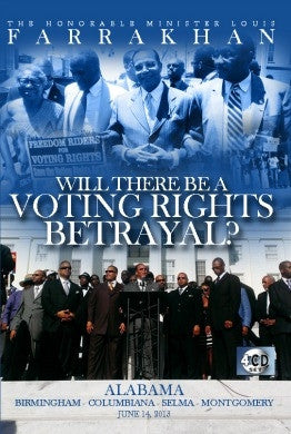 Will There be a Voting Rights Betrayl? (CD Package)