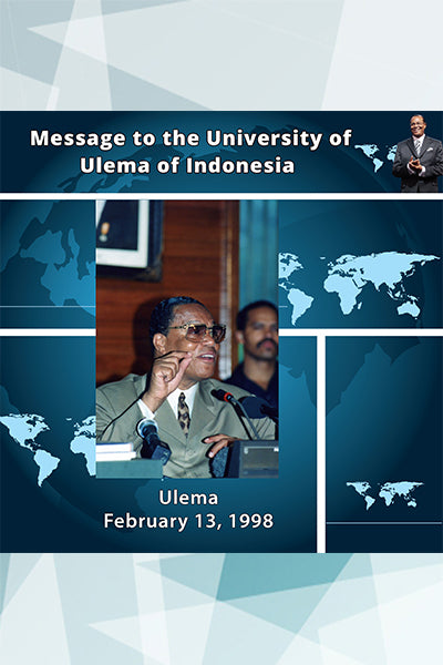 Message to the University of Ulema of Indonesia