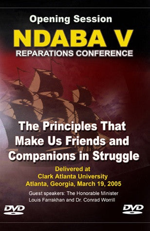 The Principles that Make Us Friends & Companions: NDABA 5 Conference (DVD)