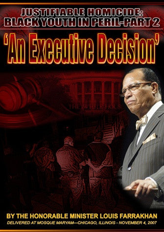 Justifiable Homicide: Black Youth in Peril Pt.2-An Executive Decision (DVD)