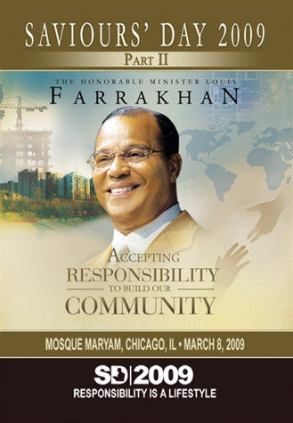 Saviours' Day 2009 Keynote Address: Accepting Responsibility To Build Our Community (DVD)