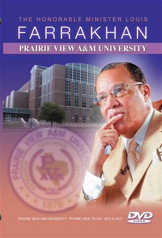 The Honorable Minister Louis Farrakhan Speaks at Prairie View A&M University (DVD)