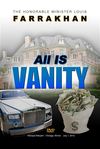 ALL IS VANITY (DVD)