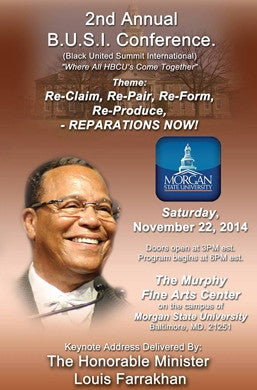 Re-Claim, Re-Pair, Re-Form, Re-Produce, REPARATIONS NOW!  (DVD)