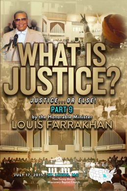 Justice Or Else! Pt. 9 - What is Justice? (DVD)