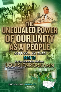 Justice Or Else! Pt. 10: The Unequaled Power of Our Unity as a People (DVD)