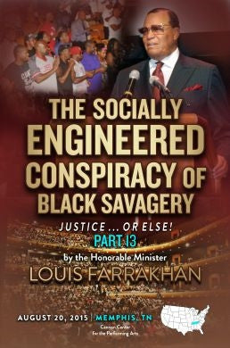 Justice Or Else! Pt. 13: The Socially Engineered Conspiracy of Black Savagery (DVD)