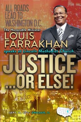 Justice Or Else! Pt. 19: The Honorable Minister Louis Farrakhan Speaks to The Mexican/Latino Community of Pilsen (DVD)