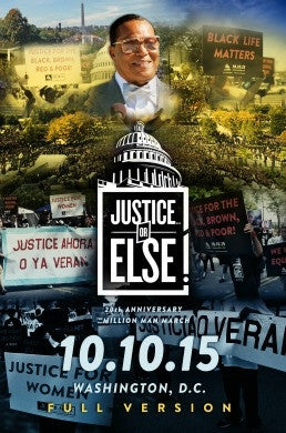 *Full Program* Justice Or Else! The 20th Anniversary of The Million Man March  (3 DVDs)