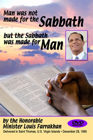 Man Was Not Made For the Sabbath, But the Sabbath Was Made For Man (DVD)