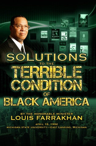 Solutions For The Terrible Condition of Black America