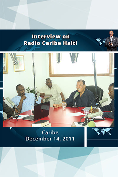 Interview on Radio Caribe Haiti