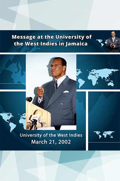 Message at the University of the West Indies in Jamaica
