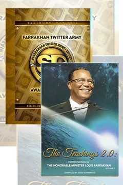 Farrakhan Twitter Army Awards DVD & The Teachings 2.0 Book