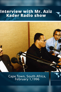 South Africa: Interview with Aziz Kader Radio show