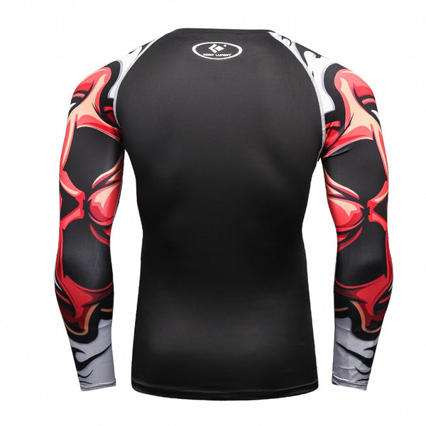 Red Dragon Black Compression Shirt