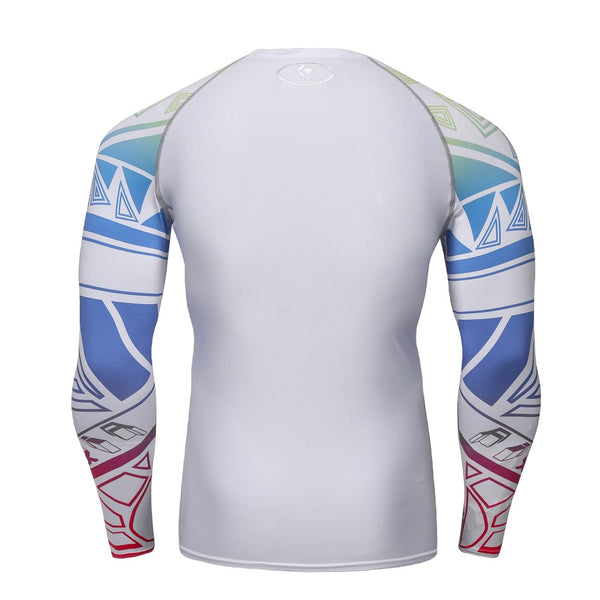 White Electrified Compression Shirt