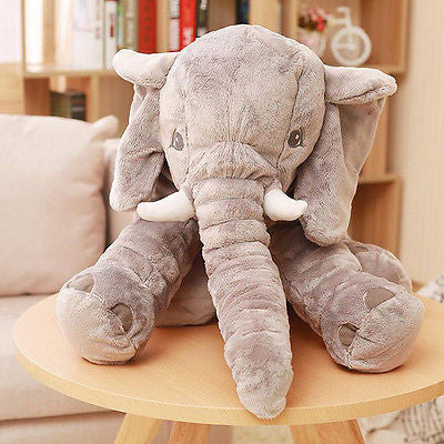 Long Nose Elephant Soft Pillow Plush