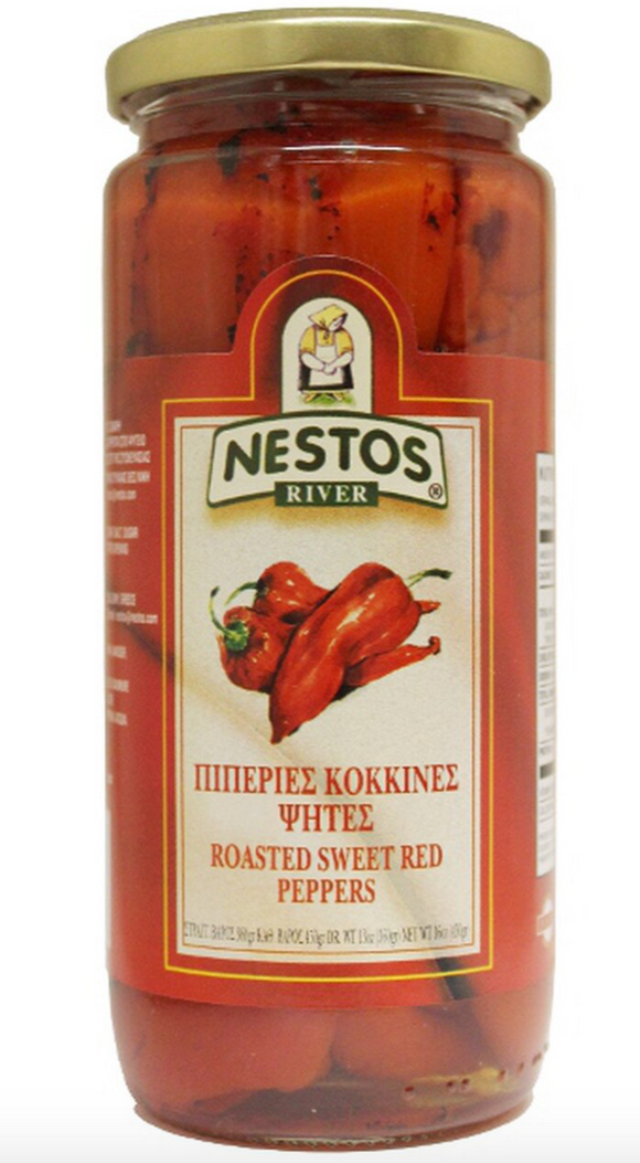 Roasted Red Peppers - Nestos Foods 16oz