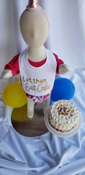 Let Them Eat Cake Bib
