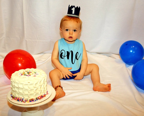 Boy's First Birthday Crown
