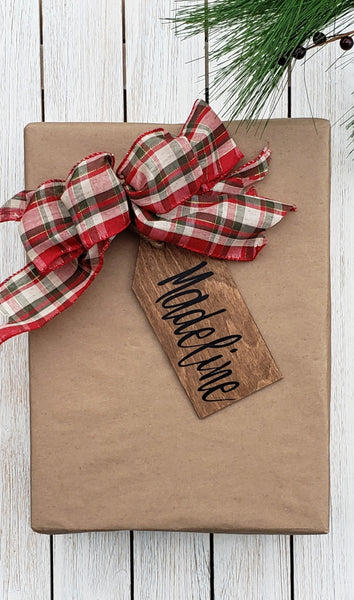 Wooden Personalized Gift and Stocking Tags