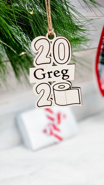 Personalized 2020 Toilet Paper Ornament