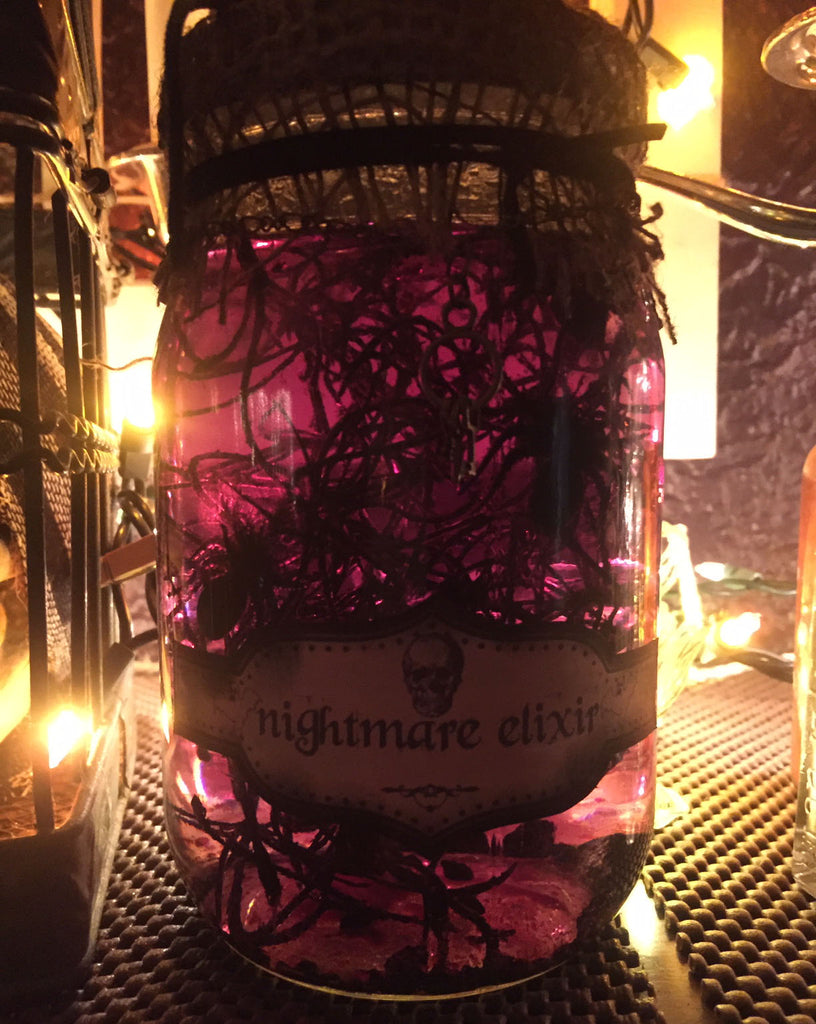 DIY Nightmare Elixir Jar for a Halloween Mantle