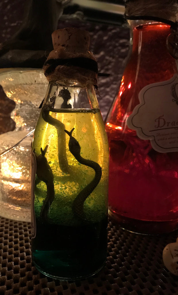 DIY SNAKE OIL FOR HALLOWEEN