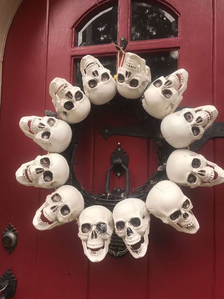 DIY Skull Wreath