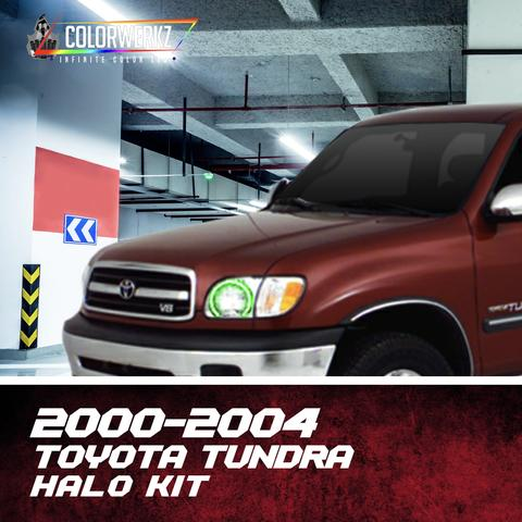 2000-2004 Toyota Tundra Color-Chasing Halo Kit LED headlight kit  AutoLEDTech Colorwerkz Oracle Starry Night Flashtech