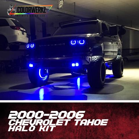 2000-2006 Chevrolet Tahoe/ Silverado Color-Chasing Halo Kit LED headlight kit  AutoLEDTech Colorwerkz Oracle Starry Night Flashtech